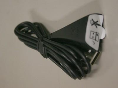 USB延長ケーブルに貼られたラベル